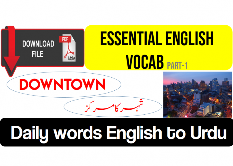 Important English Vocabulary With Urdu meaning and PDF(1