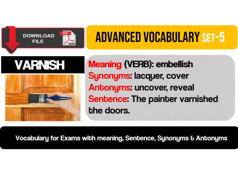 English vocabulary English words with meaning, synonyms and
