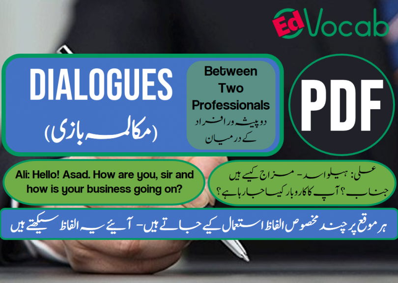 Between Two Professionals Dialogues with PDF, Learn English with dialogues