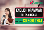 how to use so & so that, English grammar rules & usage