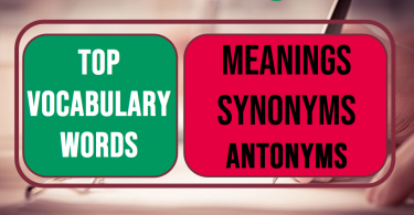 Vocabulary words with meaning English Urdu and Usage Sentence with Picture and PDF 4