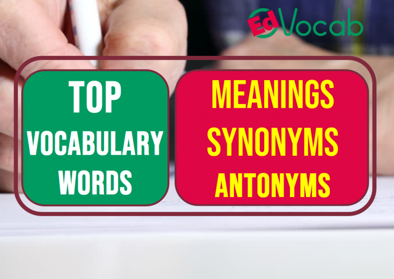 Vocabulary words with meaning English/Urdu and Usage