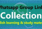 Updated Whatsapp Group Links Collection | English learning and study related