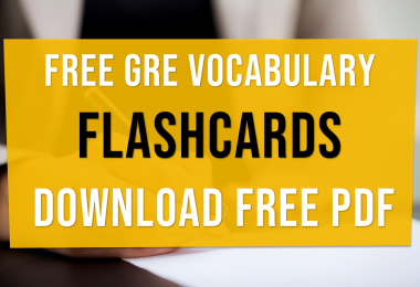 Free GRE Vocabulary Flashcards