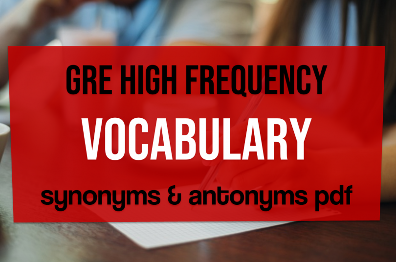 GRE high frequency vocabulary