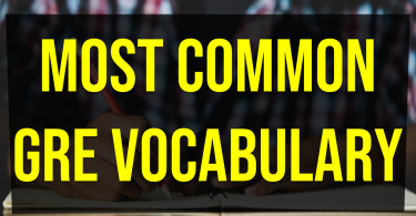 Most common GRE vocabulary
