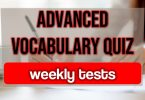Advanced vocabulary quiz