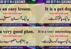 The use of it in a sentence | Example of sentences using it | Flashcards and pdf