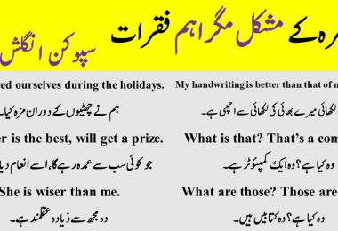 Daily use English sentences conversations | Spoken English Class 5 in Urdu