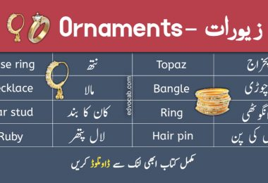Jewelry and Ornaments Names in Urdu With Pictures