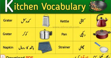 kitchen vocabulary pdf
