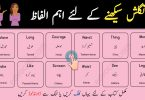 Important English to Urdu Vocabulary PDF