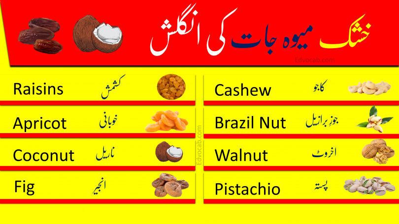 Click below to Download Names of Dry Fruits Pdf booklet Now