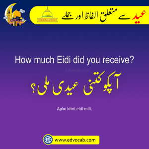 Eid Sentences and Vocabulary in Urdu and Hindi