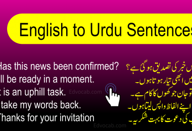 Download the Complete PDF Book of English to Urdu Sentences